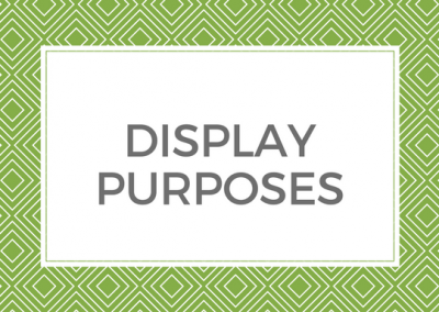 Display Purposes